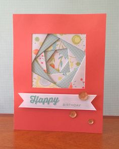 This card, based on a card design by Karen Page, features Finding the Words stamp set, Blossom B&T Paper, Coral Sequins, Glacier and Lagoon Exclusive Inks Stamp Pads and Sorbet Cardstock. This version created by Denise Tarlinton, http://scrapstampshare.blogspot.com.au