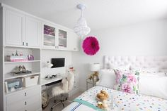A study sanctuary, a comfy bed, and surprises in every drawer, we made Sara's wish for a new bedroom come true!!
