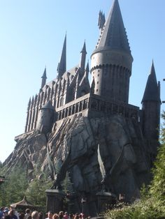 So excited to go to Hogwarts! Wizarding World of Harry Potter, Orlando, Florida