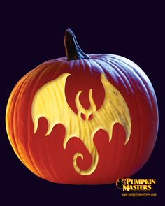 """Dragon"" pattern from the Pumpkin Masters Surface Carving Kit."