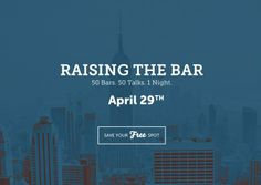 """POP-UP CLASS 'RAISING THE BAR' // is a non-profit that gives people access to free academic content in the form of a pop-up classroom in local bars and restaurants. Their aim is to bridge the gap between the academic world and our """"real"""" lives – to prove that they are actually one and the same. #BetterAwards"""