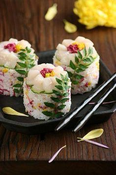 #Sushi (すし, 寿司, 鮨, 鮓, 寿斗, 寿し, 壽司) is a #Japanese #food consisting of cooked vinegared rice (shari) combined with other ingredients (neta). Neta and forms of sushi presentation vary, but the ingredient which all sushi have in common is shari. The most common neta is seafood. https://www.facebook.com/media/set/?set=a.485024358260225.1073741849.479960825433245&type=3&uploaded=5