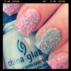 """Spring """"caviar"""" nails"""
