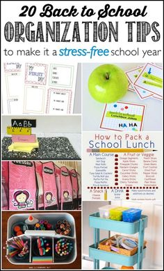 20 back to school organization tips to make it a stress-free school year.
