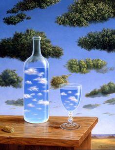 René Magritte Nuages