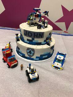 Police Birthday Cakes, Lego City Birthday, Police Cakes, Themed Birthday Cakes, Happy Birthday Cakes, 5th Birthday, Lego City Cakes, Cake Lego, Lego Torte