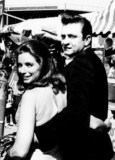 Johnny and June at the Mid-South Fair in Memphis,...
