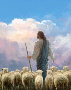 Paintings Of Christ, Jesus Christ Painting, Sheep Paintings, Christian Paintings, Christian Artwork, Jesus Artwork, Christian Artist, Images Of Christ, Pictures Of Christ