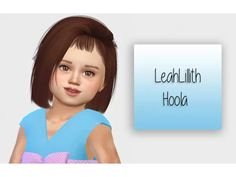 The Sims 4 LeahLillith Hoola - Toddler Version Sims 4 Children, 4 Kids, Sims 4 Cc Eyes, The Sims 4 Cabelos, Sims 4 Toddler, Toddler Stuff, Sims Hair, The Sims 4 Download, Sims 4 Update