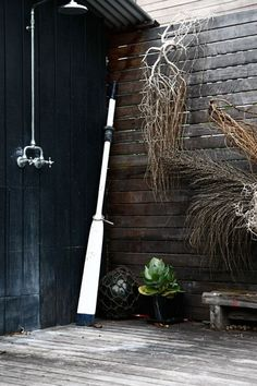 Bathing in an outdoor shower is at once luxurious and primitive: Here are two rustic outdoor shower options (at two different price points) that can withstand the elements.