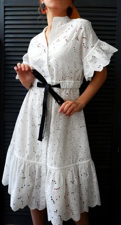 Day Dresses, Dress Outfits, Casual Dresses, Fashion Dresses, Summer Dresses, Frock Design, Classy Dress, Pretty Outfits, Cotton Dresses