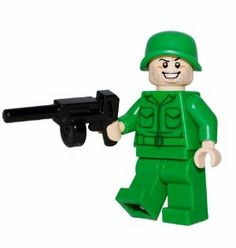 LEGO Army Man Minifigure with Machine Gun by LEGO. $7.99. Lego Army Man Minfigure.  100% official Lego parts.  This figure is not part of any set.  It is a figure custom made of Lego products.