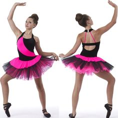Dance Costume Impulse Ballet Tutu Velvet & Spandex Organza Ruffles Adult & Child #Cicci