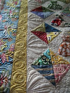 """All Dressed Up"" design is by Nanette of Freda's Hive. Nedra of Cactus Needle pieced it -quilted by Judi Madsen Green Fairy Quilts"