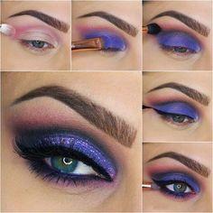 Si te gusta el color morado, en los ojos hace una mirada muy profunda. Apuesta por estos colores esta primavera.  #maquillaje #tutorial #ojos #morado #violeta #mujer #makeup #sombra