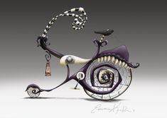 Photoshop. I have always loved the Nightmare Before Christmas & Beetlejuice style. Here is a gnarly bike design wrapped in that style.