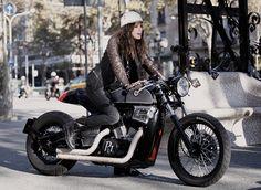 Biker Girl. - repinned by http://vikingbags.com/