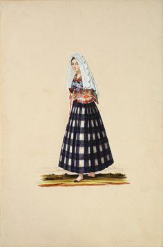 """pinoy-culture: """" Justiniano Asunción (1816 - 1896) Tipos del Pais 19th Century watercolor on paper 14 1/4"""" x 9 1/4"""" each (36 cm x 23…"""