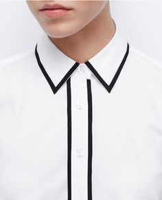 Tipped Perfect Shirt | Ann Taylor