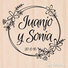 Sello Boda Floral. Mod 14 Wedding Logos, Wedding Cards, Budget Wedding, Wedding Planner, Wedding Letters, 2 Logo, Wedding Ornament, Envelope Art, Floral Logo