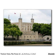 Traitors' Gate, The Tower of London Postcard.  Traitors' Gate, The Tower of London. You can see the entrance to Traitors' Gate, just above the Thames waterline. It was built by Edward 1 to provide an entrance to the Tower from the river. Tower of London, London, England