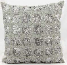 Chiffon Roses Cotton Throw Pillow