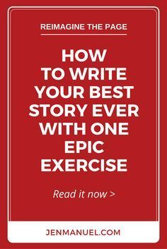 Write your best story ever with this one epic exercise. It's simple, powerful, and long forgotten. And, it's easy to add to your daily writing routine! Writing Strategies, Book Writing Tips, Writing Process, Writing Help, Writers Notebook, Writers Write, What To Write About, Writing Exercises, Writing Worksheets