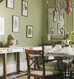 Benjamin Moore Paint:  Two Soft Greens