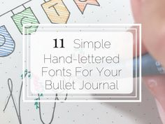 Add creativity and flair to your bullet journal by using one or all of these simple and amazing hand-lettered fonts Bullet Journal Outline, Bullet Journal Hand Lettering, How To Bullet Journal, Hand Lettering Practice, Journal Fonts, Bullet Journal Printables, Bullet Journals, Journaling, Art Journals