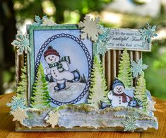 Anita Kejriwal: SNOW KISSED CARD WITH HEARTFELT CREATIONS