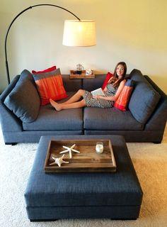Small Grey Apartment Sofa. Design Your Own Custom Apartment Sofa At The Sofa  Company. Www.thesofaco.com | Apartment Sofas | Pinterest | Custom Furniture,  ...