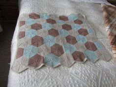 Ganchillo manta hexagonal manta del bebé manta de ganchillo