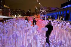 light installation festival - Google Search