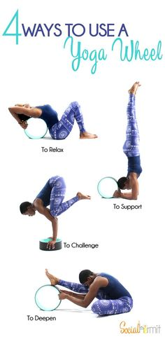 The yoga wheel was initially was developed to aid with backbends, like any yoga prop, it has many benefits and uses. Here are 4 ways to use a yoga wheel.