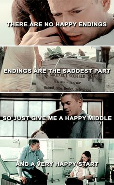 There are no happy endings, endings are the saddest part. So just give me a happy middle and a very happy start. #pb
