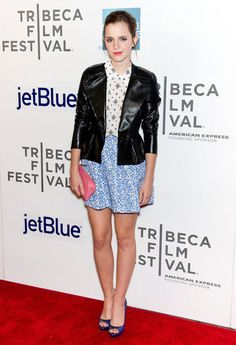 Emma Watson wore Miu Miu to the Tribeca Film Festival premiere of Struck by Lightning in New York.