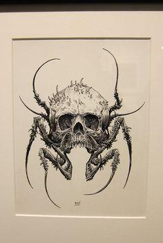 Brandon Holt January 21 2020 at Art Drawings Sketches, Tattoo Drawings, Cool Drawings, Kunst Tattoos, Body Art Tattoos, Arte Horror, Horror Art, Dark Fantasy Art, Dark Art