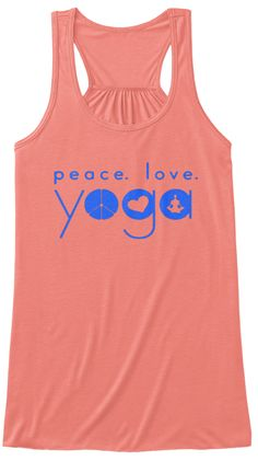 Peace,Love,Yoga,Tshirt,Yoga My Pleasure Coral Tank Top Nữ Front
