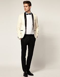 I do not like a white shirt on black pants, but with a cream jacket I can make and exception..