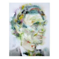 ABRAHAM LINCOLN - watercolor portrait Postcard - portrait gifts cyo diy personalize custom