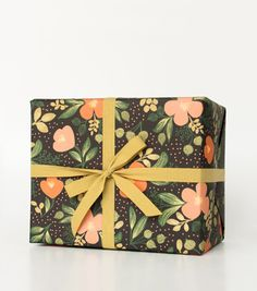 ++ Midnight Floral Wrapping Sheets by Rifle Paper Co.