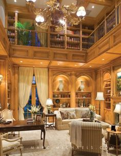 Palm Beach Style, Home Library
