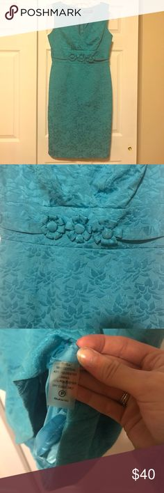 "Ellen Tracy Turquoise Knee Length Dress NWOT! 36"" bust measurement. 31"" from under armhole to bottom of dress. Ellen Tracy Dresses"