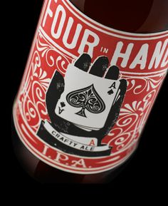 four in hand beer label