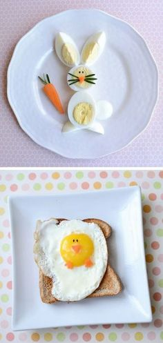 Fun Easter Food Ideas for Kids! Creative Easter themed recipes to make for your children for Breakfast, Brunch, Lunch or a Healthy Snack. Plus, sweet treats and desserts that are perfect for your child's school class party or just for fun - super cute yet easy including cakes, bark, brownies, peeps, bunnies, lambs, mini eggs, rice krispies and more!