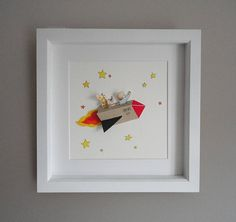 magic rocket 3d nursery art | notonthehighstreet.com