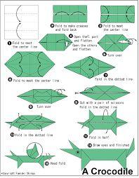 origami crocodile - Google Search