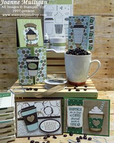 coffee cafe From the Coffee Break Suite by Stampin Up! featuring Coffee Cafe stamp set, Coffee Cups Framelits and Coffee Break Designer Series Paper. All designs by Joanne Mulligan, Independent Stampin Up! I Love Coffee, Coffee Break, Hot Coffee, Coffee Cup, Morning Coffee, Coffee Logo, Fresh Coffee, Black Coffee, Chocolate Card