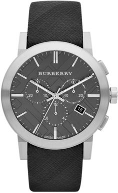Burberry ~ Mens Chronograph Watch with Beat Check Strap