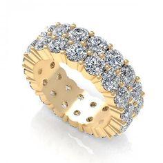 3.00CT round  cut diamonds eternity ring